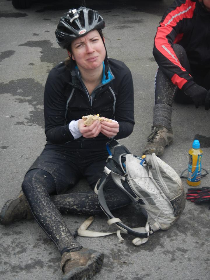 Barbara is not convinced by the quality of the food at the lunch stop