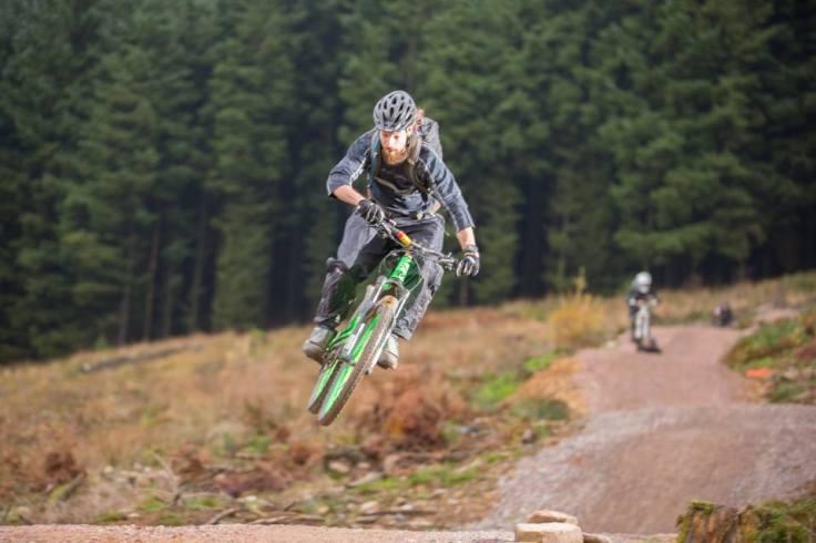 Colin gets air on a 30lbs bike!