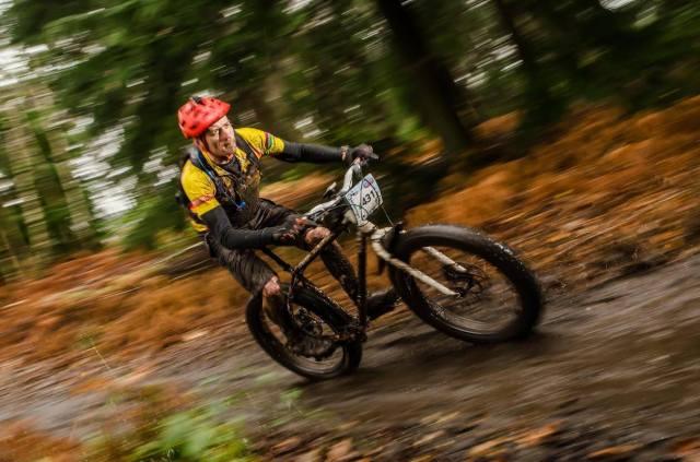 Jon Clucas braves the mud at the Brass Monkeys